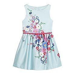RJR.John Rocha - Girls' light blue floral print belted dress