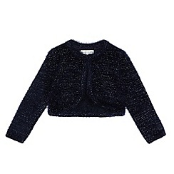 RJR.John Rocha - Girls' navy fluffy cardigan