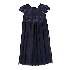 RJR.John Rocha - Girls' navy lace bodice dress