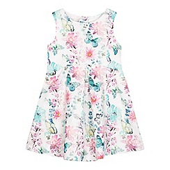 RJR.John Rocha - Girls' floral print jacquard dress