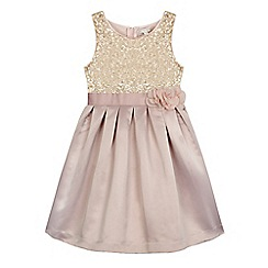 RJR.John Rocha - Girls' gold sequin bodice dress