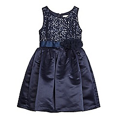 RJR.John Rocha - Girl's navy sequin bodice dress