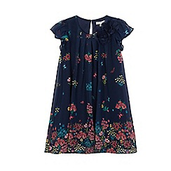 RJR.John Rocha - Girls' navy floral print trapeze dress