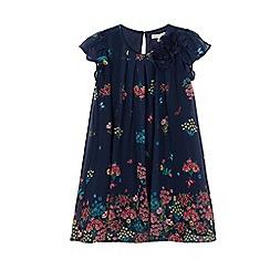 RJR.John Rocha - Girls' navy floral print trapeze dress