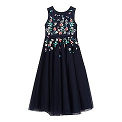 RJR.John Rocha - Girls' navy floral embellished dress