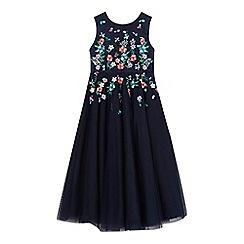 RJR.John Rocha - Girls' navy floral embellished dress
