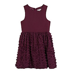 RJR.John Rocha - Girls' dark purple ruffle dress