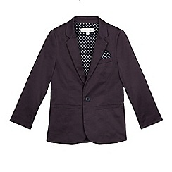 RJR.John Rocha - Boy's navy cotton sateen blazer