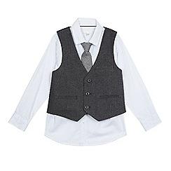 RJR.John Rocha - Boys' grey waistcoat, shirt and tie set