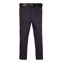RJR.John Rocha - Boys' navy, slim fit cotton sateen chinos