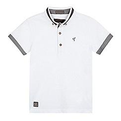RJR.John Rocha - Boys' white contrast polo shirt