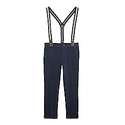 RJR.John Rocha - Boy's navy Oxford trousers with braces