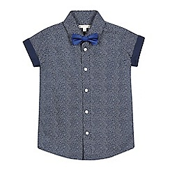 RJR.John Rocha - Boys' navy shirt with a bow tie