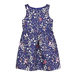 RJR.John Rocha - Girls' purple butterfly print jacquard dress