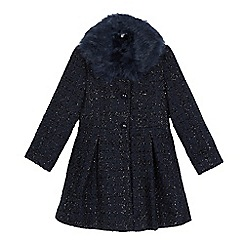 RJR.John Rocha - Girls' navy sparkle coat