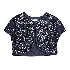 RJR.John Rocha - Girl's navy sequin cardigan