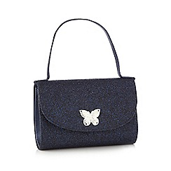 J by Jasper Conran - Girls' blue glitter bag