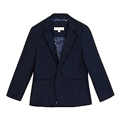 RJR.John Rocha - Boys' navy suit jacket with galaxy print lining