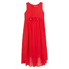 RJR.John Rocha - Girls' red flower applique dress