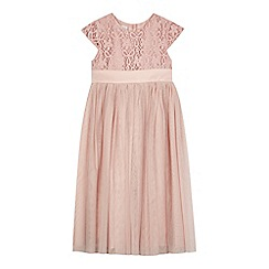 RJR.John Rocha - Girls' pink floral lace dress