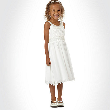 Tigerlily - Girl's ivory beaded dress