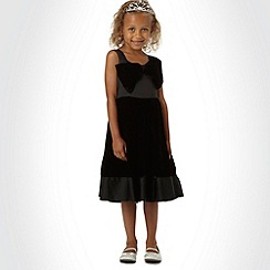 Tigerlily - Girl's black bow front occasion dress