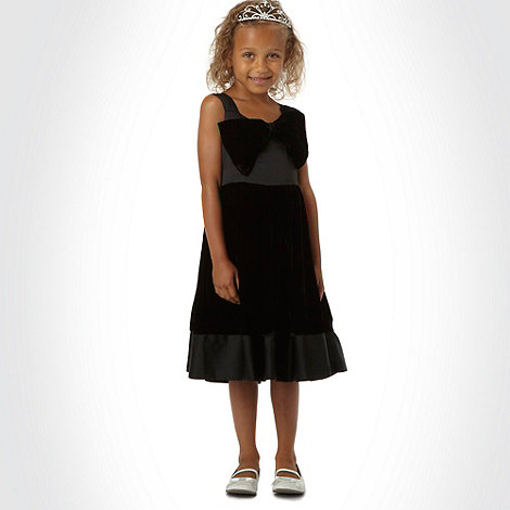 Tigerlily - Girl+s black bow front occasion dress