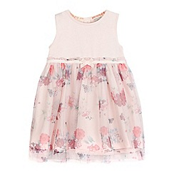 RJR.John Rocha - Girls' pink floral print jersey dress