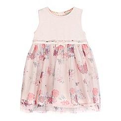 RJR.John Rocha - Girls' pink floral print jersey dress
