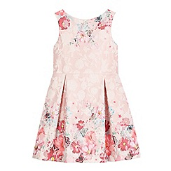 RJR.John Rocha - Girls' purple lace floral print dress