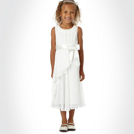 Tigerlily - Girl+s cream rosebud occasion dress