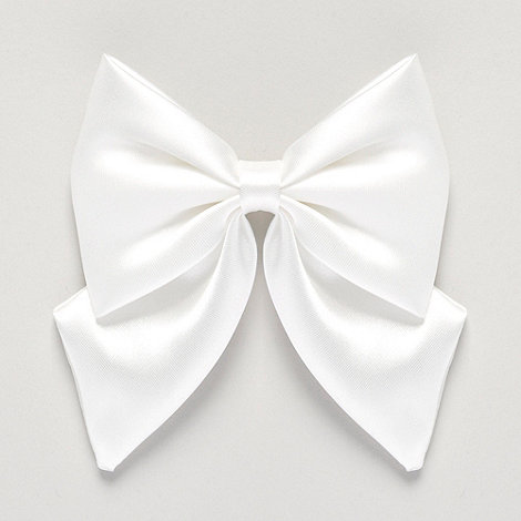 Debenhams - Girl+s ivory satin bow hair slide