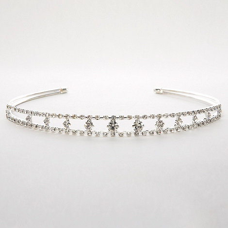 Debenhams - Girl+s silver diamant  hair band