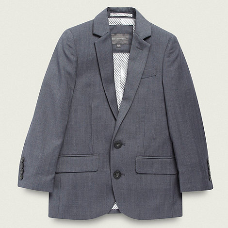 RJR.John Rocha - Designer boy+s grey pinstriped suit jacket