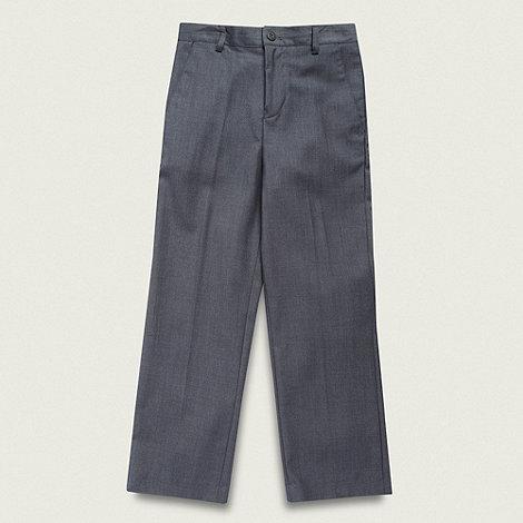 RJR.John Rocha - Designer boy+s grey pinstriped suit trousers