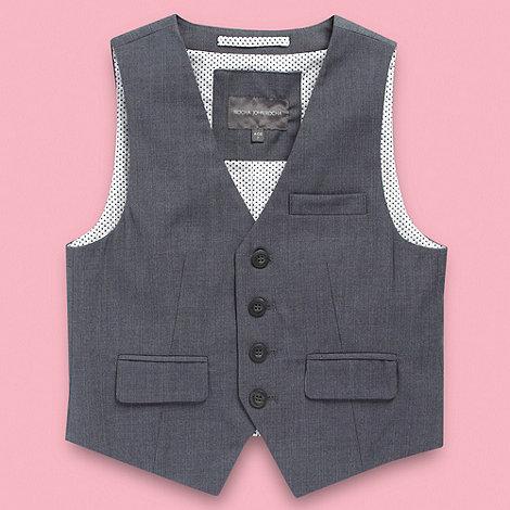 RJR.John Rocha - Designer boy+s grey pinstripe waistcoat