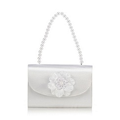 RJR.John Rocha - Girls' white satin pearl clutch bag