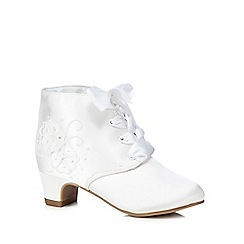 RJR.John Rocha - Girls' white embellished boots