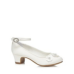 RJR.John Rocha - Girls' ivory flower applique heeled shoes