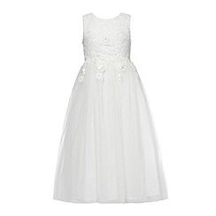 RJR.John Rocha - Girls' ivory bead embellished lace dress