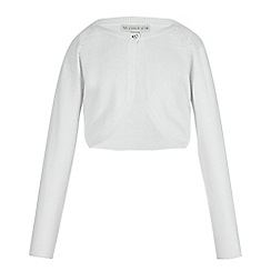 RJR.John Rocha - Girls' white pearl beaded cardigan