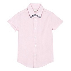 RJR.John Rocha - Boys' pink Oxford shirt and bow tie set