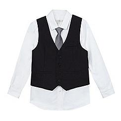 RJR.John Rocha - Boys' grey shirt, tie and waistcoat set