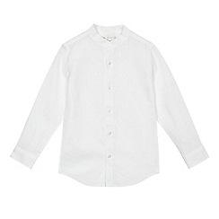RJR.John Rocha - Boys' white linen blend granddad shirt