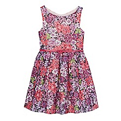 RJR.John Rocha - Girls' multi-coloured floral embroidered belted dress