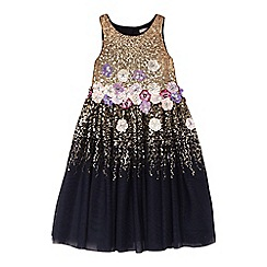 RJR.John Rocha - Girls' navy sequin embellished dress