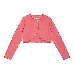 RJR.John Rocha - Girls' pink scalloped trim cardigan