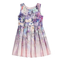 RJR.John Rocha - Girls' pink graduated floral print pleated dress