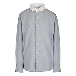 RJR.John Rocha - Boys' blue dotted print button down shirt