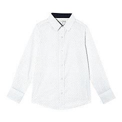 RJR.John Rocha - Boys' white polka spotted print shirt